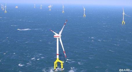 Bard Offshore 1: Halber Windpark bereits am Netz