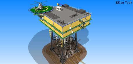 Offshore-Windpark Dan Tysk: Umspannwerk wird installiert