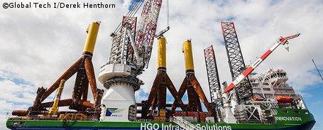 Offshore-Windpark DanTysk: Bau hat begonnen