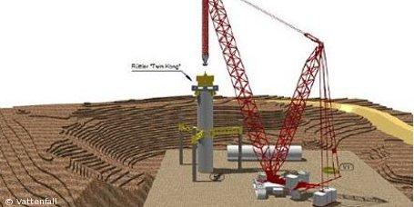 Vattenfall testet neue Installationstechnik für Offshore-Windparks