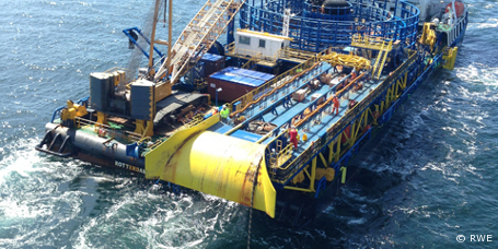 "Verkabelung für den Offshore-Windpark ""Nordsee Ost"" fertiggestellt"