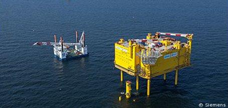Siemens sorgt für Netzanbindung für Offshore-Windparks in der Nordsee