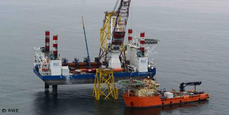 """Offshore-Windpark """"Nordsee Ost"""": Fundamente erfolgreich installiert"""