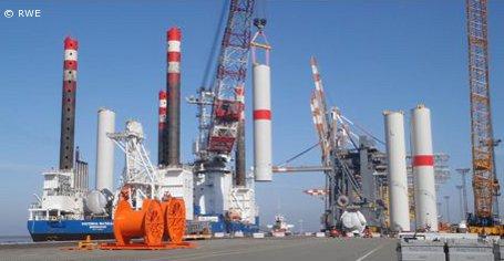 """Offshore-Windpark """"Nordsee Ost"""": Installation der Turbinen hat begonnen"""