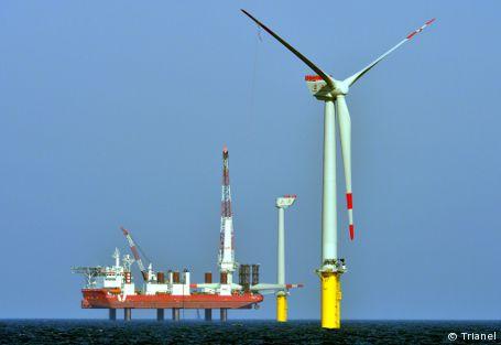 "Offshore-Windpark ""Borkum"" zu Zweidrittel fertig"