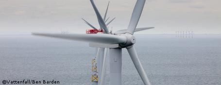 Vattenfall installiert tausendste Windturbine