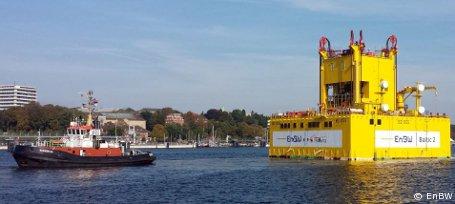 """Offshore-Windpark """"Baltic 2"""": Umspannstation in Kiel abgelegt"""