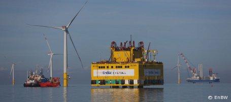 """Offshore-Windpark """"Baltic 2"""": Umspannstation installiert"""