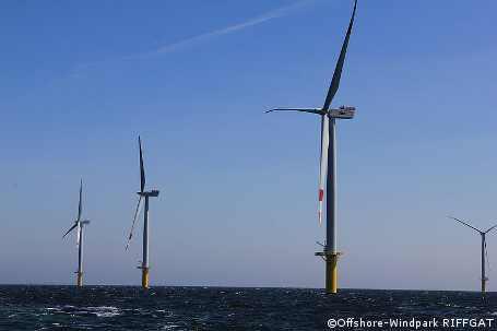 """Offshore-Windpark """"Riffgat"""" zur Hälfte fertig"""